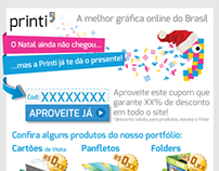 "Email Marketing ""Presente de Natal 2012 da Printi"""