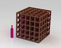 Rangement pour bouteilles de vin (Wine Cube)