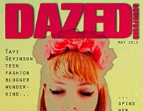 Dazed And Confused Tavi Gevinson editorial mock-up.