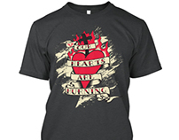Burning Heart Tee - UNfallen Apparel