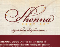 Shenna Body Art Identity Design and Brochure