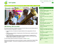 Web Design - BP Gulf Update (2012)