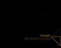 Triangle. Reception concept of the architectural studio