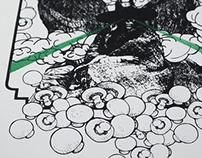 AFFICHE SÉRIGRAPHIÉE (2007) pour Tim Barry à l'Esco