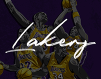 Laker Greats | Vector Illustrations