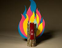 Red Bull Burning Box