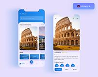 Travel App UI design - (Freebie)