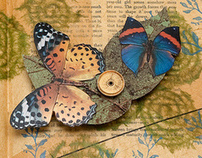 Movable parts altered book: Circle Away & Return