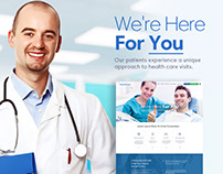 Hospital Website Template Design trend 2017