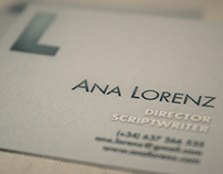 Business Card: Ana Lorenz