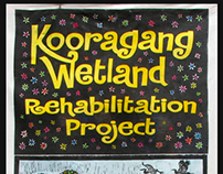Woodcut Banner for KWRP.