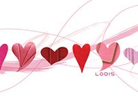 Lodis Valentine's Day Postcard