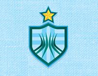 Brasão e Uniforme do time de futebol Hospital Brasília