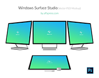 Microsoft Surface Studio PSD Mockup - Free Download