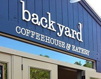 BackYard Coffeehouse lettering - Ogunquit, ME