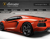 Lamborghini Website Redesign