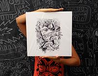 el gusano rabioso - serigrafias