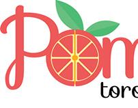 Pomelo Toronja Rosada Logo