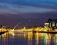 Photo: Dublin Lights & Poolbeg Pipes