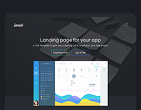 Landing page for desktop apps