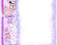 Baby Animals Custom birthday invitation template.