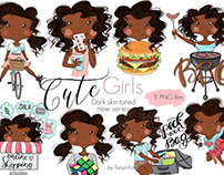 African American Super Girl Clipart
