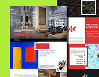 Free: Interior Art – One Page PSD Template