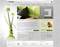 Web design concept for a hotel
