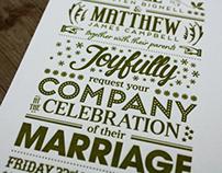 Bree & Matthew Wedding Invite
