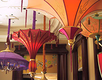 Umbrellas at Wynn Hotel in Las Vegas
