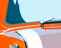 Deconstrution of automotive illustration