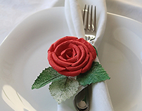 Red Roses Napkin rings