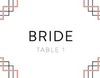 Art Deco Wedding Day Materials