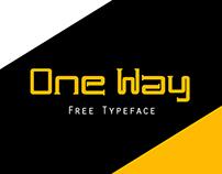 One Way Typeface