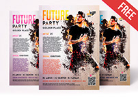 Free Future Party Flyer in PSD