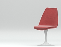 3d model+render Tulip Chair by Eero Saarinen