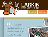 Larkin Farm & Petting Zoo Website
