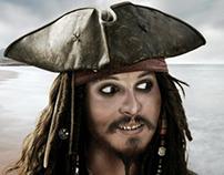 Dibujo de Jack Sparrow