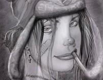 Dibujo de TANK GIRL