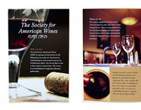 Society for American Wines brochure