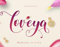 FREE Loveya Script Font
