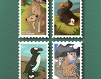 Forever Stamps- Extinct Animals