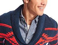 gap, men's southwestern cardigan; sweater design