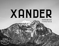 Xander Handmade Typeface