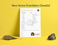 New Home Orientation-Checklist