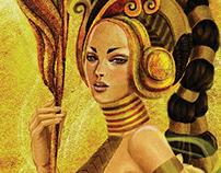 Digital Illustration : Wood Enchantress