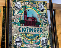 Reverse Glass Sign - Giesinger Bräu München
