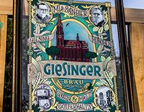 Reverse Glass Sign - Giesinger Bräu München