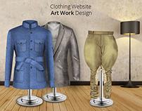 Clothing Website Art work Design