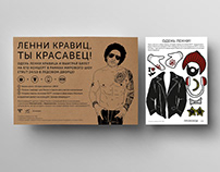 LENNY KRAVITZ PLACEMAT WITH STICKERS